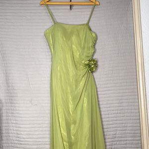 Women's Long Kiwi Green Dress